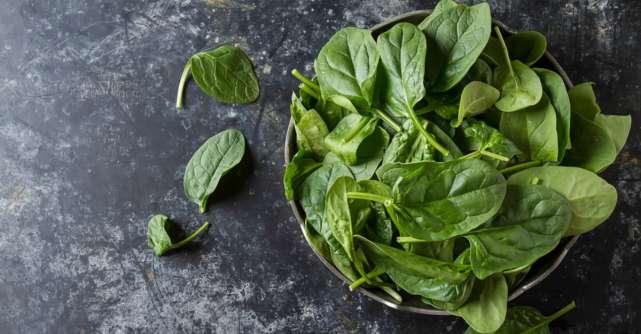 Spanacul, cel mai sănătos aliment din lume. Idei de reţete