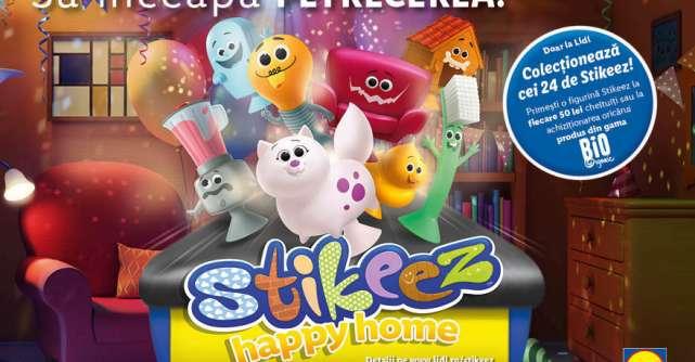 Lidl lanseaza noua colectie Stikeez Happy Home, impreuna cu primul filtru pentru Instagram sub forma unui joc animat