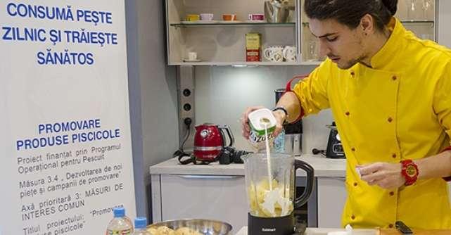 Live cooking show cu d'Artagnan pentru promovarea consumului de produse piscicole