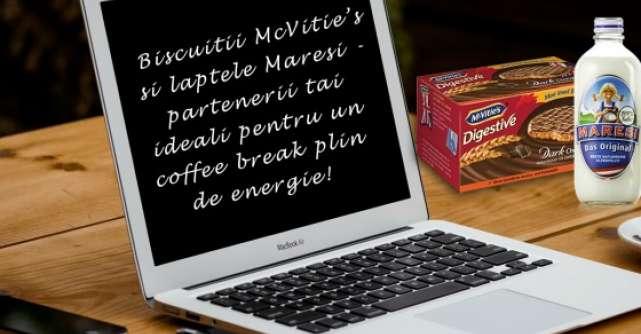 Biscuitii McVitie's si laptele Maresi-partenerii tai ideali pentru un coffee break plin de energie