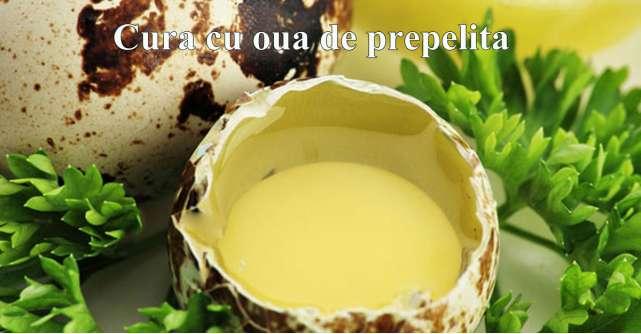 De ce sa incerci cura cu oua de prepelita