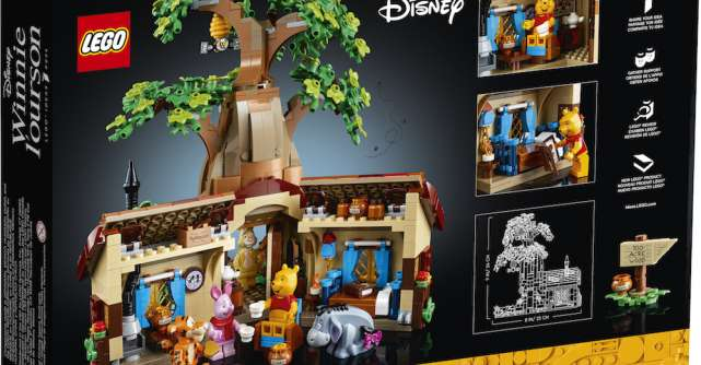 Grupul LEGO mizează pe nostalgie cu noul setLEGOIDEAS Winnie the Pooh