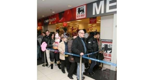 Mega Image in Bucuresti Mall - deschidere cu sute de cumparatori