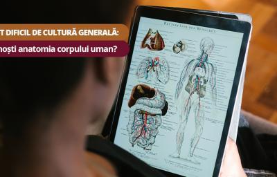 Test dificil de cultura generala:  Cunosti anatomia corpului uman?