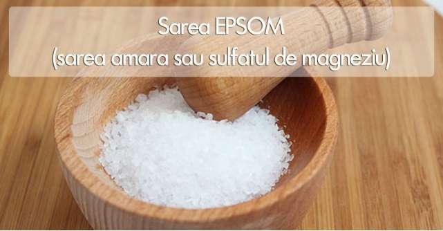 Sarea EPSOM: o binecuvantare pentru corpul tau