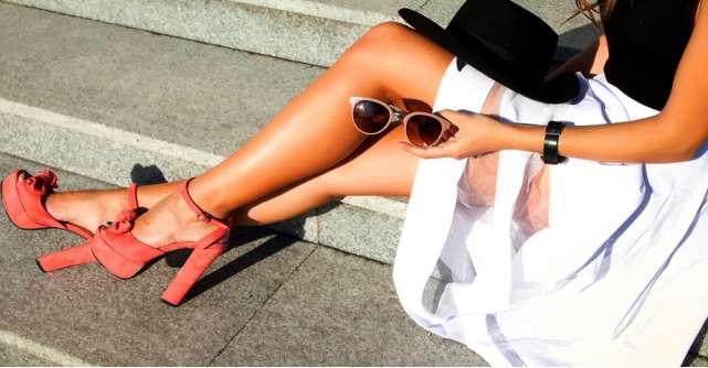 Pantofii cu toc inalt si gros: cum ii porti la vara