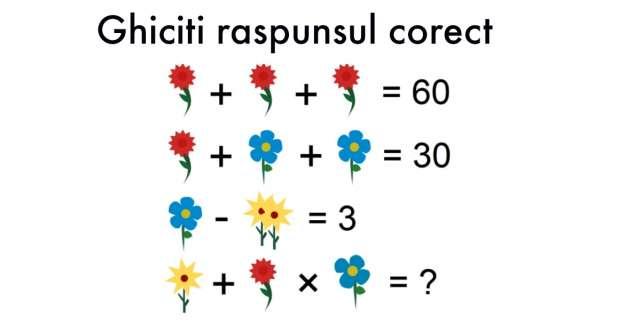 Puteti rezolva aceasta problema de matematica pentru copii? Majoritatea persoanelor gresesc raspunsul