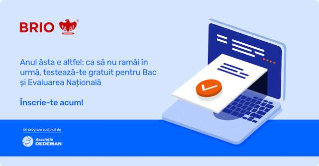 Brio.ro: Programul național de pre-testare gratuită și nelimitată
