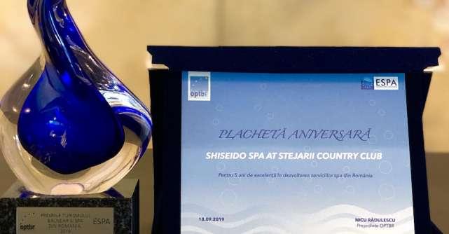 Shiseido Spa at Stejarii Country Club, premiat în cadrul Congresului Turismului Balnear si Spa din Romania