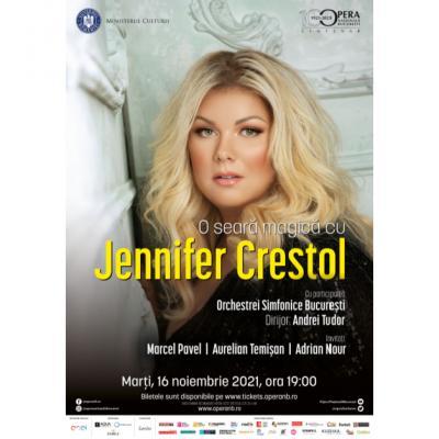 O seară magică cu Jennifer Crestol pe scena Operei Naționale București