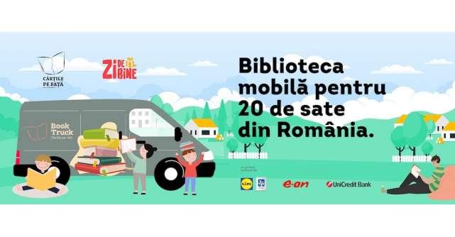 BookTruck, biblioteca mobilă care va împrumuta gratuit cărți în satelefără bibliotecă funcțională