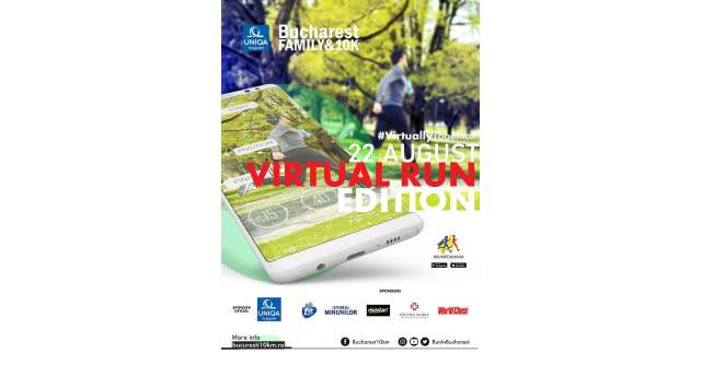Cea de-a V-a ediție a UNIQA Asigurări Bucharest Family & 10k se va desfășura virtual