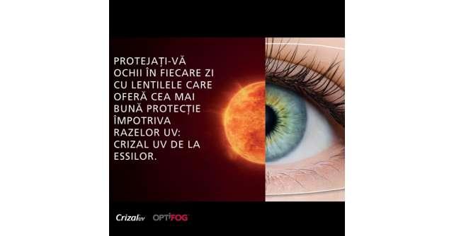 Crizal UV, lentilele de ochelari cu cel mai performant factor de protectie UV din lume