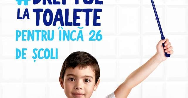 Tot mai mulți copii își câștigă Dreptul la toaletecu ajutorulcampaniei Domestos susține igiena în școli