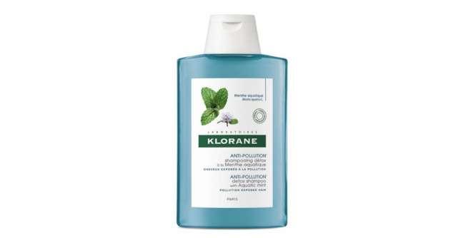 Ritual de îngrijire anti-poluare cu extract pur de mentă acvatică de la KLORANE