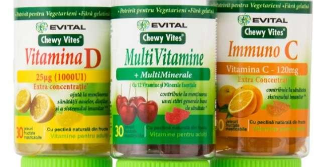 Evital te invita sa te bucuri de viata cu noile vitamine Chewy Vites!