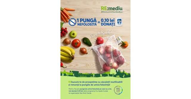 Lidl introduce in magazine saculetii reutilizabili pentru fructe si legume