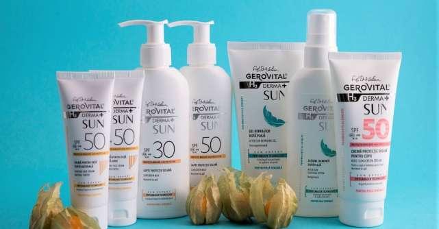 Farmec modernizează gama de dermatocosmetice solareGerovital H3 Derma+ SUN