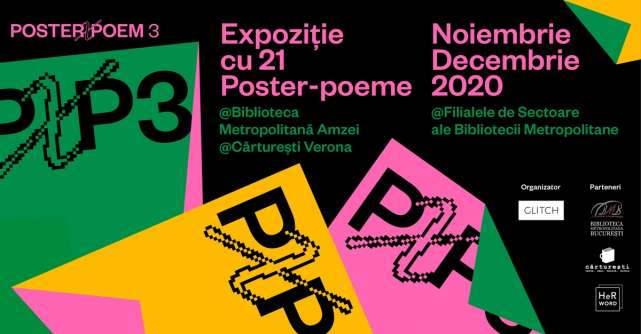 Expoziția POSTER X POEM aduce poezia mai aproape de oameni, în toate cartierele din București