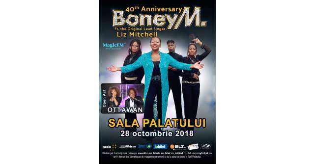 Primele 2 categorii de bilete SOLD OUT la Boney M feat Liz Mitchell, concert aniversar