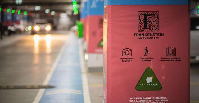 Cărturești și Veranda Mall transformă parcarea subterană a mall-ului într-o invitație la lectură
