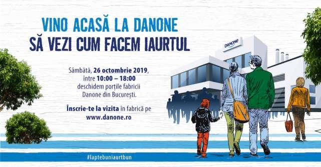 """Danone organizează """"Ziua Porților Deschise"""" în fabrica din Bucureşti"""