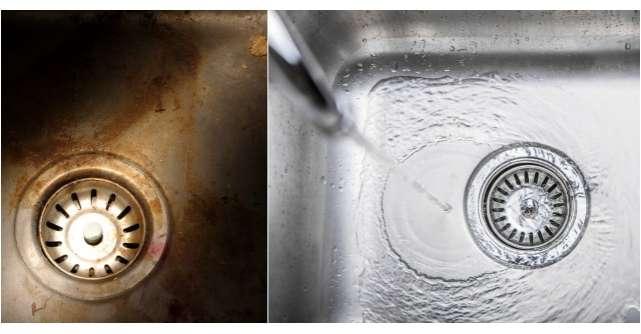 Foto: Cum indepartezi petele de pe chiuveta cu trei ingrediente simple?