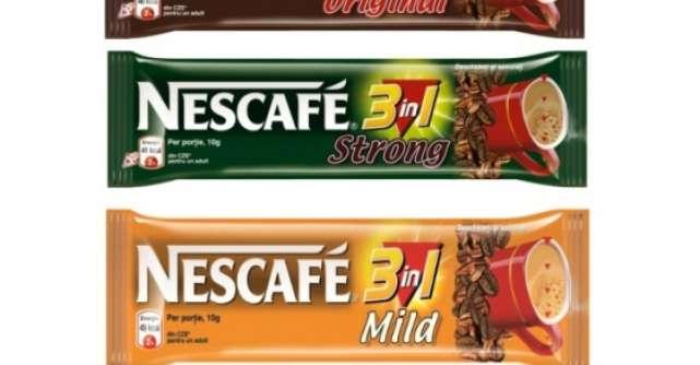 Noua gama NESCAFE 3in1: acelasi gust de trei ori bun, acum cu 30% mai putine calorii