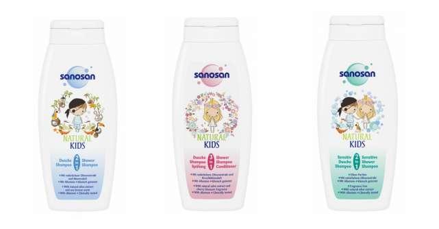Transformă baia în distracție cu gama Sanosan Natural Kids