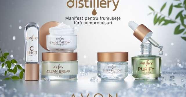 Avon lansează Distillery, noua gamă de îngrijire a tenului care  celebrează frumsețea curată, fără compromisuri