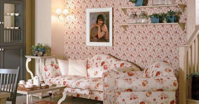 Primavara in locuinta ta: canapele si fotolii cu motive florale