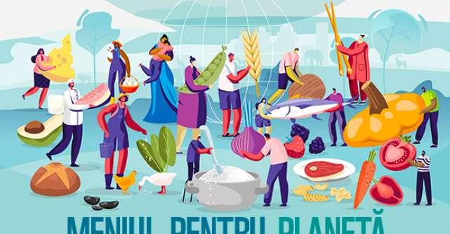 Meniul pentru Planetă, o alimentație benefică și pentru sănătate, și pentru planetă
