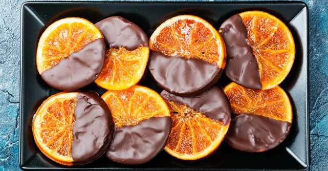 Clementine glazurate cu ciocolata