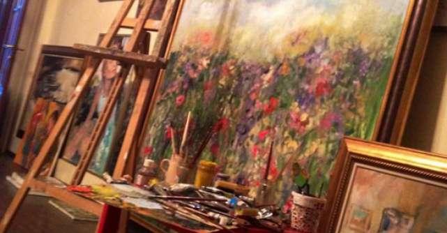 Prospetime, cel mai mare tablou al pictorului Bogdan Mihai Radu