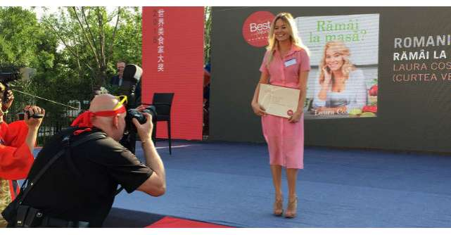 Laura Cosoi a adus in Romania premiul Gourmand!