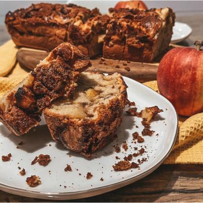 Cinnamon apple bread. Dulcele pe care l-ai manca non stop