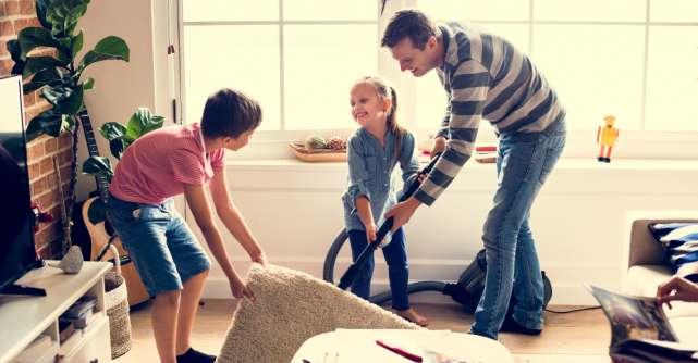 Curățenie rapidă în locuințele cu copii