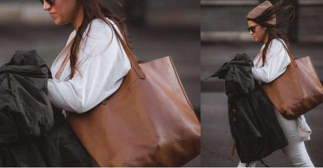 Geanta tip sacoșă este versatilă și de efect în orice stil