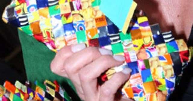 Posete ecologice din ambalaje de dulciuri