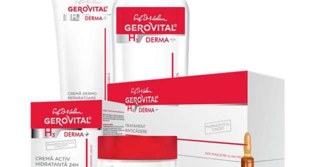 Ingrijire la superlativ cu noua linie dermatocosmetica Gerovital H3 DERMA+