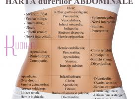 HARTA abdominala a DURERILOR: ce boli ai daca te doare burta