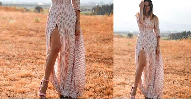 Alege rochii de vară cu șliț pe picior pentru un look sexy, de zi sau de seară