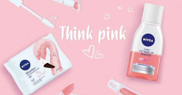Think Pink cu noile servetele micelare si demachiantul bifazic NIVEA Pink Flamingo
