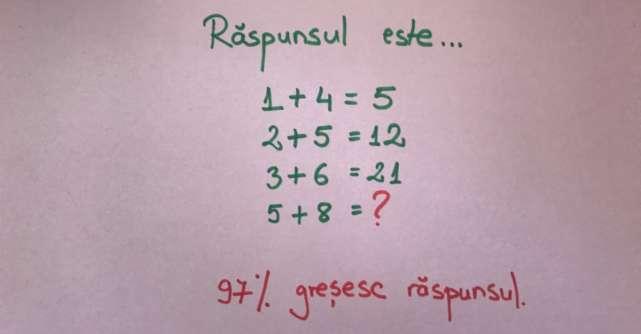Care este răspunsul corect la această ecuație?
