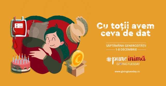 Săptămâna Generozității a început pe 1 decembrie.Toți românii sunt invitați să facă o faptă bună de GivingTuesday!