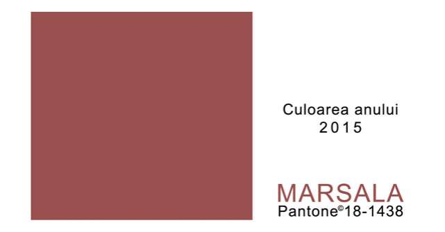 Marsala, culoarea anului 2015!