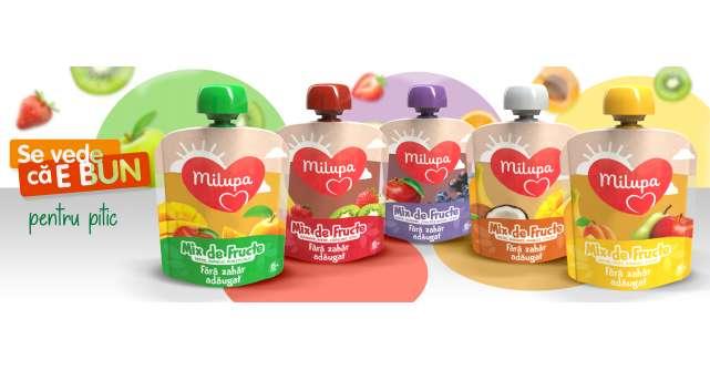 Nou pentru pitic: cinci mixuri de fructe de la Milupa, fără zahăr adăugat și ușor de consumat
