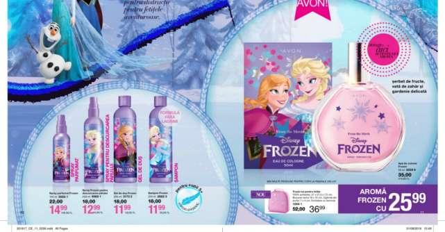 Avon lansează gama Frozen, inspirată de celebrul film Disney