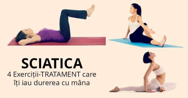 SCIATICA: 4 Exercitii-TRATAMENT care iti iau durerea cu mana
