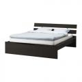 Cadru pat Hopen negru-maro